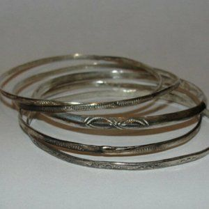 Native American Inspired 5 Piece Bangle Set with N